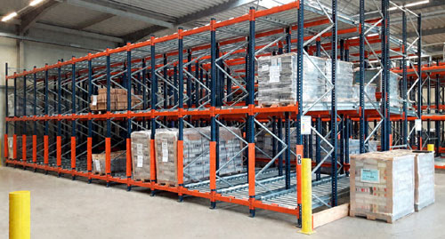 Oppermann Druck und Verlags reorganises the operation of its warehouse with push-back racking with rollers